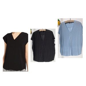 Vince V neck Cap sleeve blouse size XL